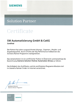 solution partner zertifikat